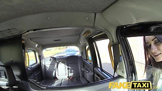 Fake Taxi Italian beauty in stockings gets a deep anal fuck
