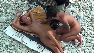 TheBeachWatch 13 Beach babe nudist teen anal dildo play