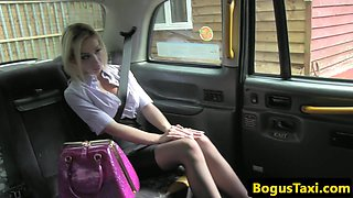 Facialized taxi british pounded ontop car bonnet