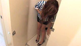 Jav Milf In Heels Fingers Herself To Intense Orgasm In The Toilet