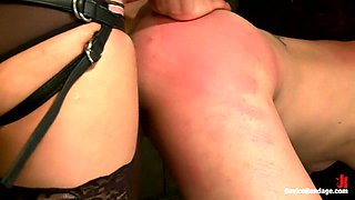 Breaking Amber Rayne Anal fisting, double penetrated, and suffers through brutal torment