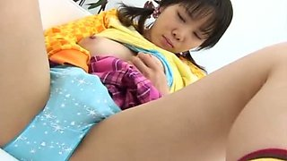Fresh and cute young hottie Ayu Mayumi is fond of rubbing her own clit