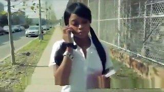 Ebony schoolgirl tied rough sex