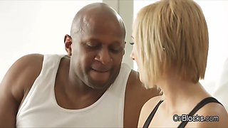 blonde screams during bbc anal after workout