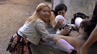 Spanish slave naked disgraced in public