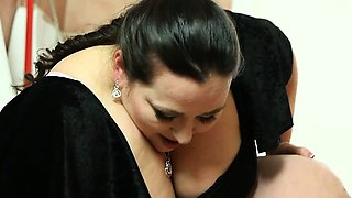 Brutal BBW facesitting and femdom ass worship in the toilet
