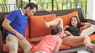 Divine bitch Amirah Adara involved in FFM threesome