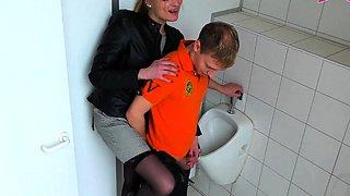 german prostitute seduced guy at public toilet