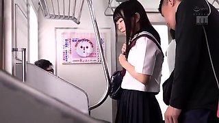 Girl in School uniform public forced Orgasm