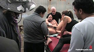 Julie Night - Fisted And Fucked In The Junkyard - PublicDisgrace