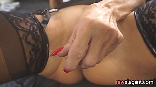 Gorgeous euro MILF bent over and fucked