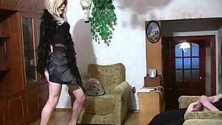 Crossdresser with her husband having sweet sex