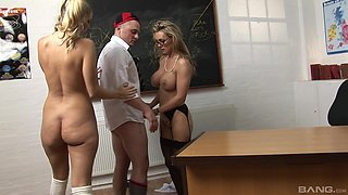 Threesome sex with busty blondes Jordan Kingsley and Tanya Tate