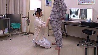 Mashiro Ayase naughty Asian nurse is horny teen at work