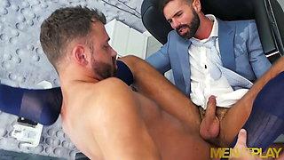 MENATPLAY Bearded Hunk Dani Robles Ass Bred By Logna Moore