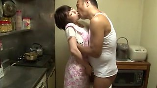 Crazy Japanese chick Shinobu Kasagi in Best Kitchen JAV video