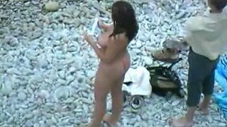Hot amateur beach cam voyeur brunette