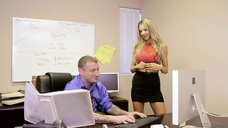 Courtney Taylor is a horny office worker craving a handsome man's dick