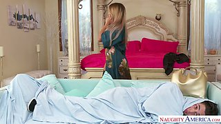 Sex-crazy milf Mercedes Carrera fucks her stepson like nobody else before