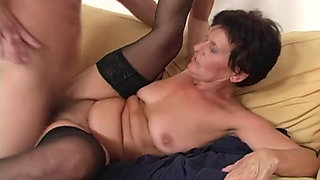 Hot mature (granny Ibi) fucked by drunk stepson