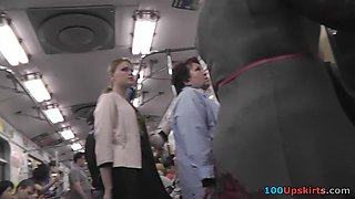 Public upskirt videos present perverted female views