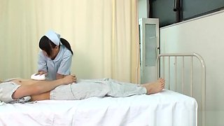 Naughty Asian nurse enjoys some facesitting
