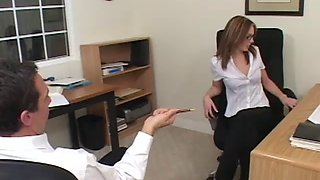 Riley shy office fuck