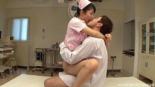 Wild fucking between a doctor and horny nurse Aoi Mizutani