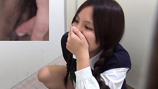 Hairy teen asian spied on