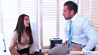 Office masturbation session ends with unexpected shagging
