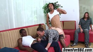 DOWN FOR BBC - Raquel Sieb double penetration 2 black studs