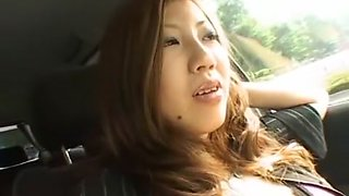 Amazing Japanese chick Seri Ishiguro in Incredible Car, Big Tits JAV scene