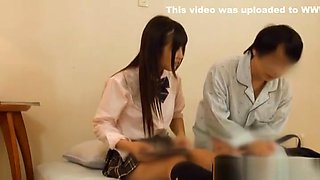 Asian schoolgirl is a cock tease getting a hard drilling
