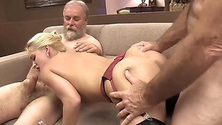 sexy slut casting with 2 old pervs