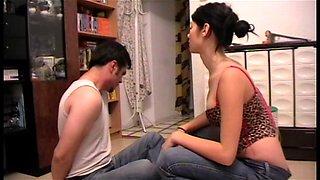 teen dominatrix enjoy face slapping slaves