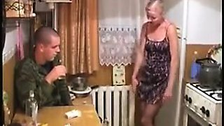 Big titted russian blonde kitchen fuck