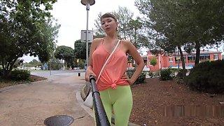 Camel-toe flashing in public
