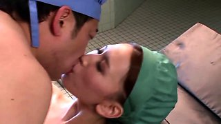 Sexy Asian nurse with big tits gets fucked by a horny doctor