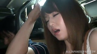 asian hottie is fucke inside a people filled bus