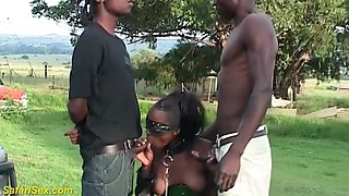 extreme wild african outdoor threesome orgy