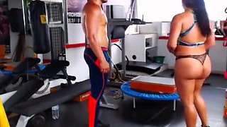 gym couple fuck