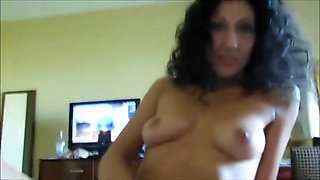 MILF riding a cock and rubbing her clit
