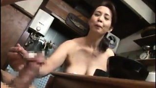 Voluptuous Asian housewife can't wait to fuck a young cock