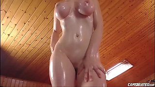 Hot Busty Oiled Body Maid