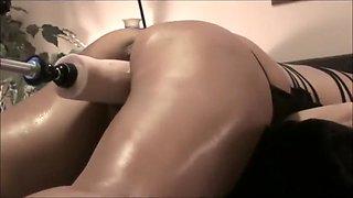 Sexy Wife Fucks Huge Dildo Fuck Machine Doggy Style