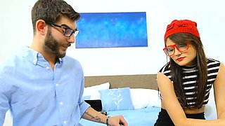 Nerdy Emo and Glasses Teenie