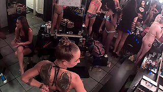 Ravishing strippers expose their sexy curves on hidden cam