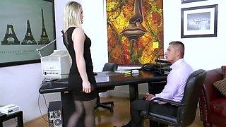 Secretary Ash Hollywood Hard Fucking In Sexy Black Stockings