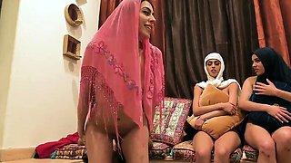 Teen teacher Hot arab femmes try foursome