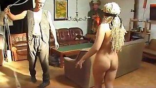 Crazy homemade BDSM, European porn movie